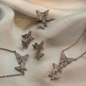 Jewelry - 925 STERLING SILVER CZ BUTTERFLIES FULL SET